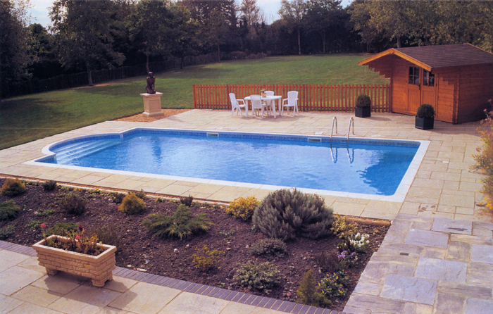 Lovely A Finished Pool